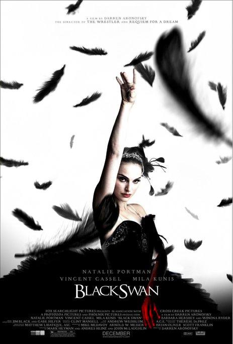 Postermotive für Darren Aronofskys Ballerinadrama Black Swan, aber hey…